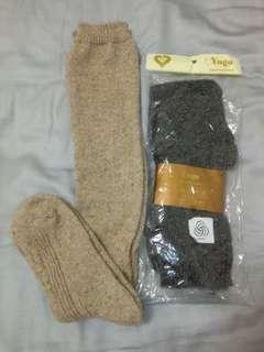 korea 長筒羊毛襪