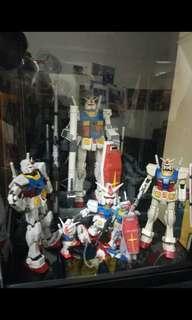 Gundam rx 78-2 mg, rg, hg, sd n capsules collection