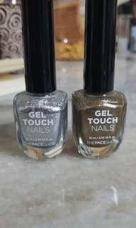 The Face Shop Nail Polish Silver Gold