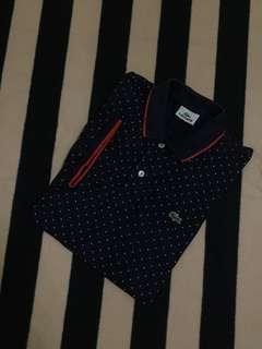 Authentic lacoste dots poloshirt tipped