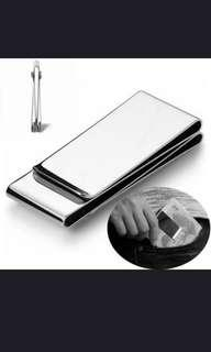 🚚 Money Clip Silver Wallet Man's Pocket Bill Dollar Metal Money Clips Credit Cards Holder