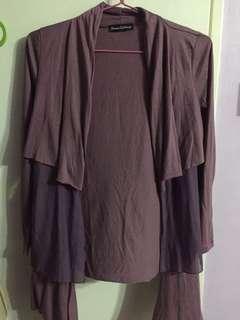🚚 Purple layered cardigan