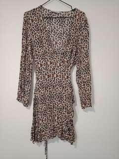 Leapord print dress