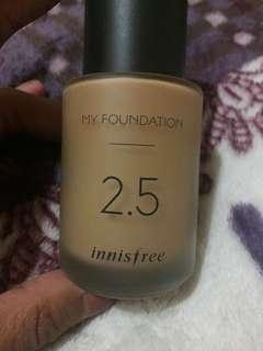 my foundation 2.5 semi matte look shade w33