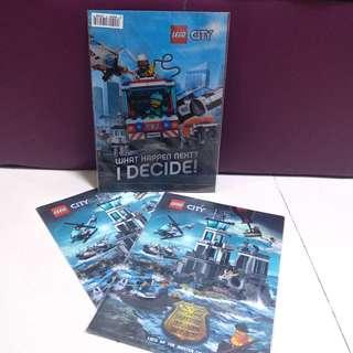 全新正品 lego city A4 files 膠文件套 三個 $25 for 3