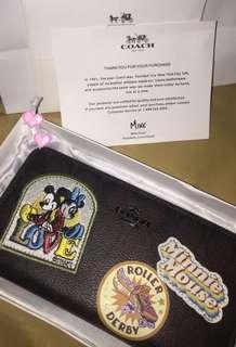 Coach x Disney Minnie Mouse Patches Siganture Wallet ORIGINAL