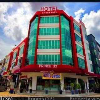 2D1N stay in Johor Bahru at Prince 33 Hotel on March 1 to 2)