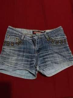 Denim Washed Shorts