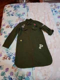 Army green casual wear