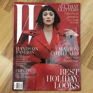W Magazine Dec 2012 - Marion Cotillard