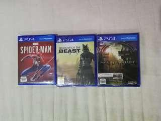 Spiderman Ps4 and other games