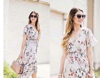 Korean floral dress