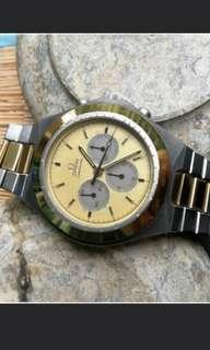 🚚 Omega Speedmaster 1984 Gold Chronograph Vintage Watch