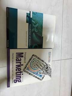 Foundation of statistics and principal of marketing textbook