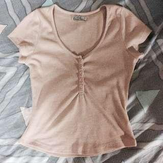 COTTON ON PINK PEACH BUTTONED TOP