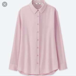 🚚 Uniqlo Rayon Long Sleeve Blouse