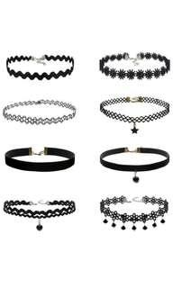 🚚 (INSTOCK/FREE REGISTERED MAIL) Set of 8 Chokers