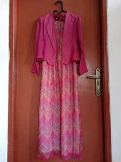Woman long dress (inner dan outer pisah)