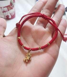 🚚 💯招財🐎金馬玉堂🔥配上加持過的紅繩💫💫