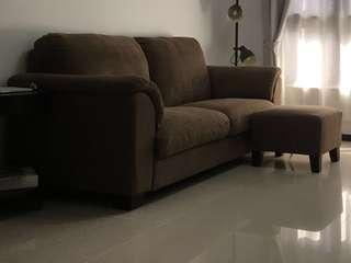 三人舒適布沙發