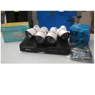 IP CCTV Package 1080P 4pcs. outdoor camera