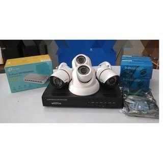 IP CCTV Package 1080P 2pcs. indoor 2pcs. outdoor