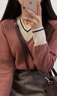 韓國粉紅色冷衫