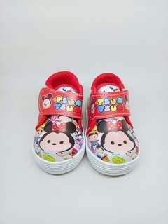 Sepatu anak karakter tsum tsum merah