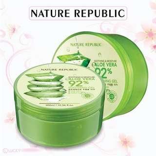 NATURE REPUBLIC Aloe Vera Soothing Gel 300ml ✨D