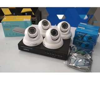 IP CCTV Package 1080P 4pcs. indoor camera
