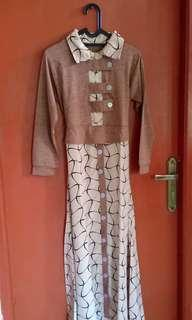 Cream woman long dress