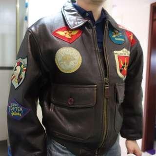 AVIREX G-1 TOP-GUN Ver. Leather Jacket超難找M碼(US XS)罕見山羊皮 高回頭率