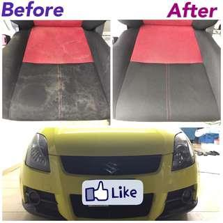 Fabric interior cleaning swift sports