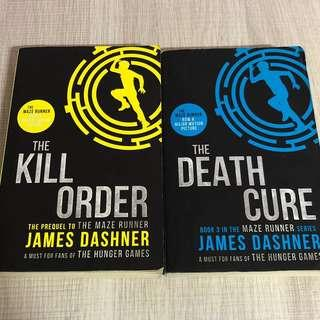 The Maze Runner The Hunger Games Kill Order Death Cure Books