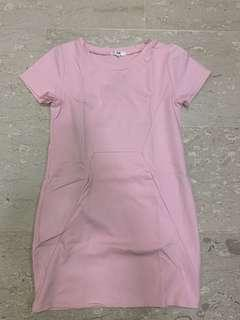 🚚 Fayth Pink dress ( 1 piece ) cotton