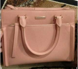 Charles and Keith Pink Salmon Handbag