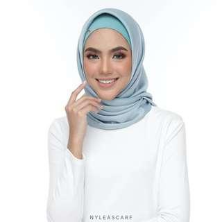 🚚 Musalmah Square Shawl by Nyleascarf - Aqua