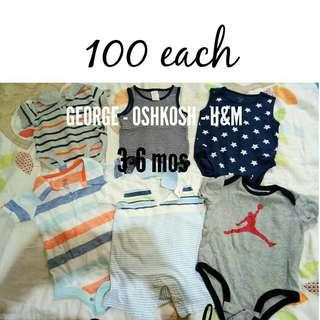 BRANDED Pre loved clothes for baby boy.