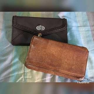 Lot of 2 Branded Wallet Used