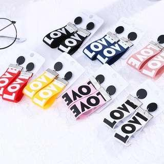Korean LOVE Earrings