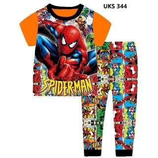 Spiderman Orange Short Sleeve Pyjamas for 2 to 7 yrs old