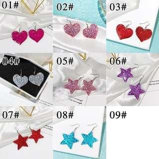 Korean Heart/star Earrings