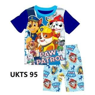 🚚 Paw Patrol Blue Short Sleeve Tshirt/Shorts Set for ( 2 to 7  yrs old)