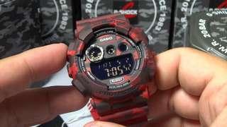 CASIO G-SHOCK GD-120-CM4 紅迷 電子手錶