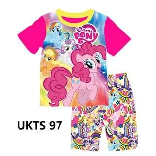 My Little Pony Short Sleeve Tshirt/Shorts Set for ( 2 to 7  yrs old)