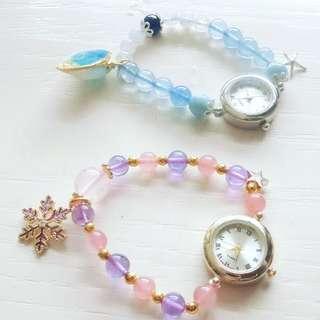 水晶串飾手錶