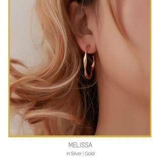 Retro Twsited Hoop Stud Earrings