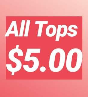 🚚 All Tops $5.00