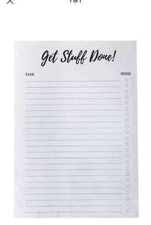 Get stuff done A5 notepad shrink wrap