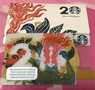 🚚 Starbucks Malaysia Special Edition Siren Card - 20 Years Anniversary